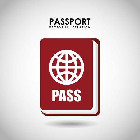 emigration: passport identification design, vector illustration eps10 graphic
