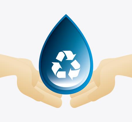 물 생태 디자인을 저장 vectori llustration합니다 10 주당 순이익.