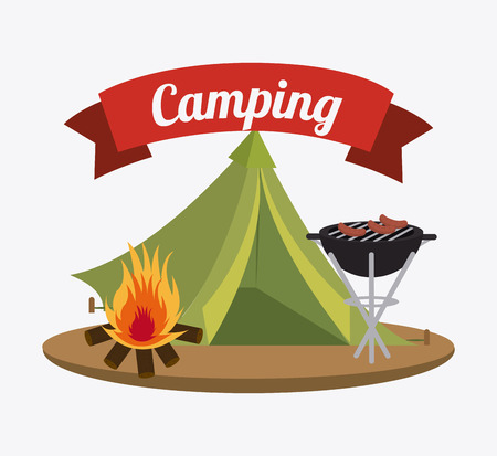 camping: Camping  design over white background, vector illustration. Illustration
