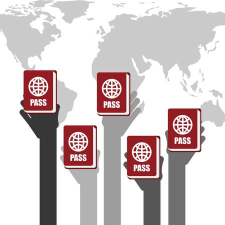 identification: passport identification design, vector illustration eps10 graphic