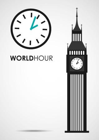 big timer: world hour design, vector illustration eps10 graphic Illustration