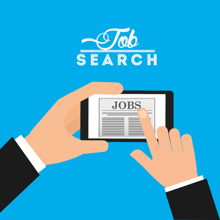 icons site search: app for a job design, vector illustration eps10 graphic