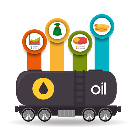 price development: Petroleum and oil industry prices design, vector illustration