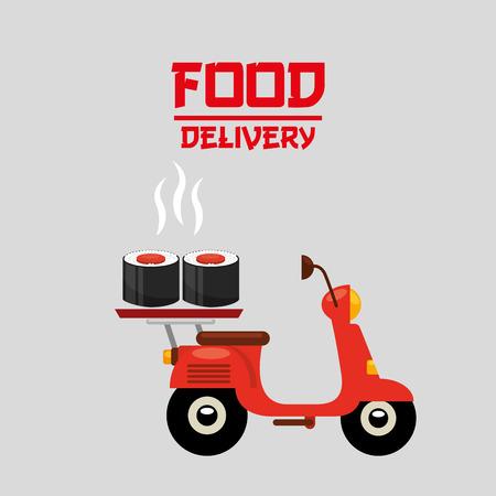 asian food delivery design, vector illustration eps10 graphic Illustration
