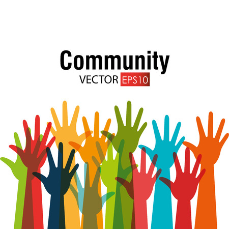 Community and social design, vector illustration eps 10