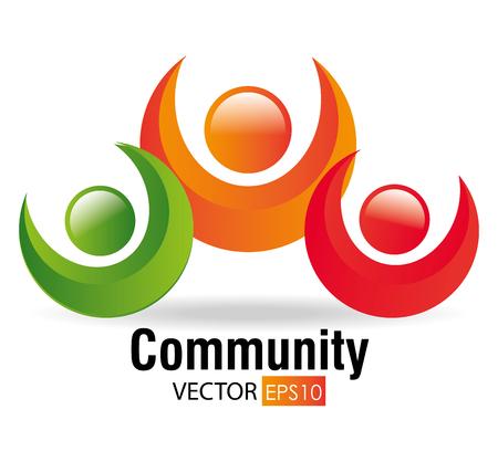 sociedade: Community and social design, vector illustration eps 10