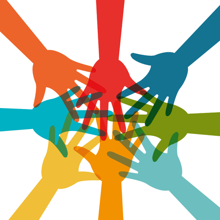 la société: Communauté et la conception sociale, vecteur illustration EPS 10