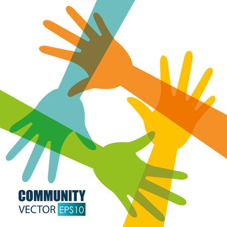 sociedade: Comunidade e design social, ilustração vetorial eps 10