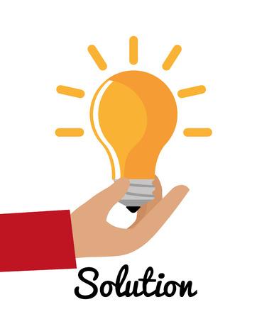 Business solutions graphic design, vector illustration eps10. Ilustração