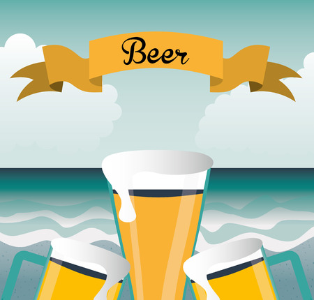 cold beverages: cold beer design, vector illustration eps10 graphic Illustration