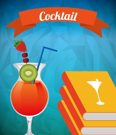 recipe book: cocktail recipe book design, vector illustration eps10 graphic