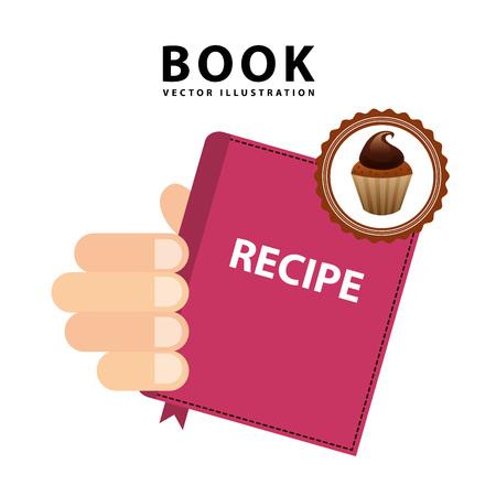 cupcake illustration: cupcake recipe book design, vector illustration eps10 graphic