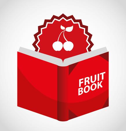 recipe book: fruit recipe book design, vector illustration eps10 graphic