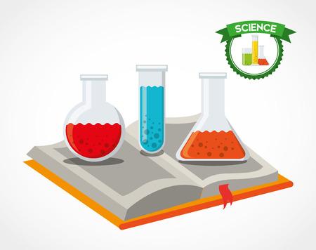 book vector: science book design, vector illustration eps10 graphic