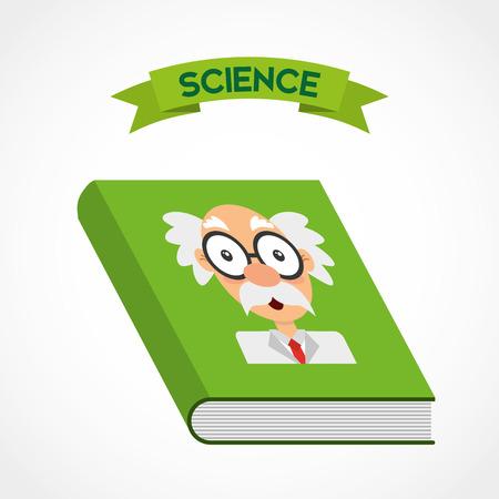 scientific literature: science book design, vector illustration eps10 graphic
