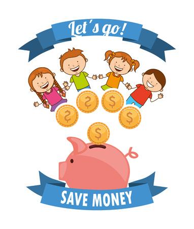 collect: saving children design, vector illustration eps10 graphic Illustration