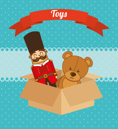box design: toys box design, vector illustration eps10 graphic