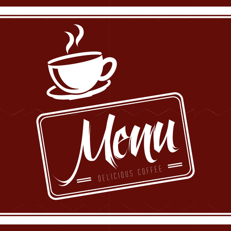 menu good coffee design, vector illustration eps10 graphic Illustration