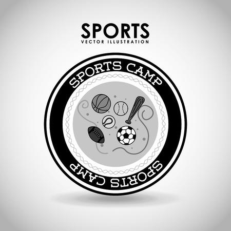 balon baloncesto: deportes dise�o campamento, ilustraci�n vectorial gr�fico eps10