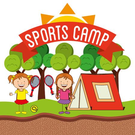 outdoor sport: sports camp design, vector illustration eps10 graphic