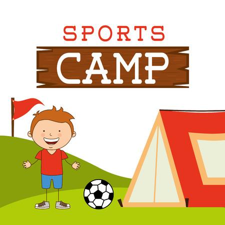 sport kamp ontwerp, vector illustratie eps10 afbeelding