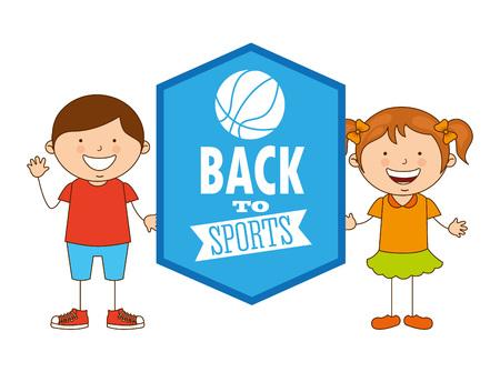 balon de basketball: dise�o de deportes de los ni�os, ilustraci�n vectorial gr�fico eps10
