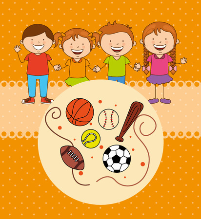 balon baloncesto: kids sports design, vector illustration eps10 graphic