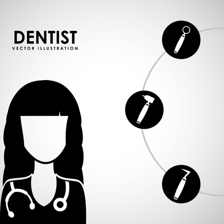 woman hygiene protection: dental care service design, vector illustration eps10 graphic