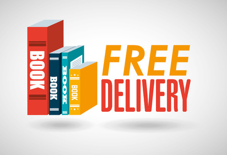 movers: delivery service books design, vector illustration eps10 graphic