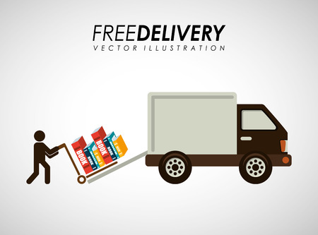mover: delivery service books design, vector illustration eps10 graphic