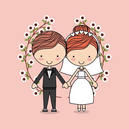 enamorados caricatura: diseño de tarjeta de amor, ilustración vectorial gráfico eps10 Vectores