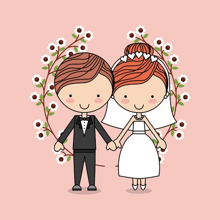 wedding day: love card design, vector illustration eps10 graphic Illustration