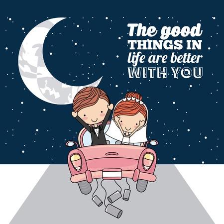 romance: love card design, vector illustration eps10 graphic Illustration