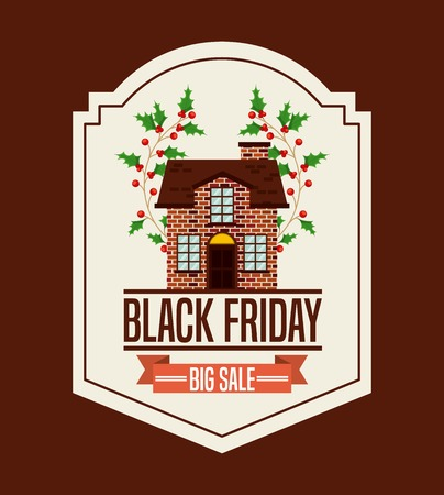 house clearance: black friday design, vector illustration eps10 graphic