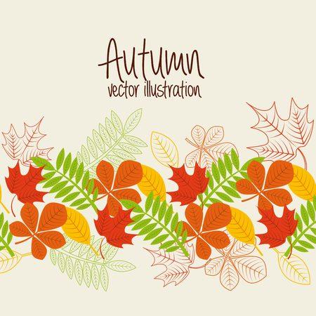 the season: autum season design, vector illustration eps10 graphic