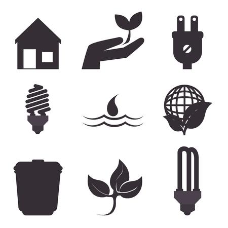 environmental contamination: Eco green energy design, vector illustration eps10. Illustration