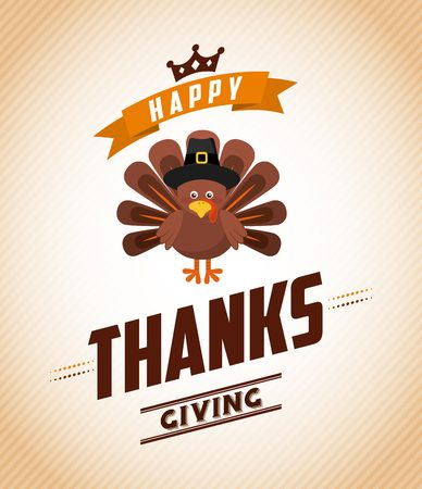 happy holiday: happy thanksgiving design, vector illustration eps10 graphic Illustration