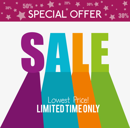 special offers: Shopping special offers design, vector illustration eps 10.