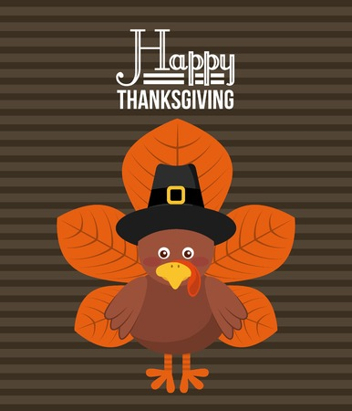 autumn leafs: happy thanksgiving design, vector illustration eps10 graphic Illustration