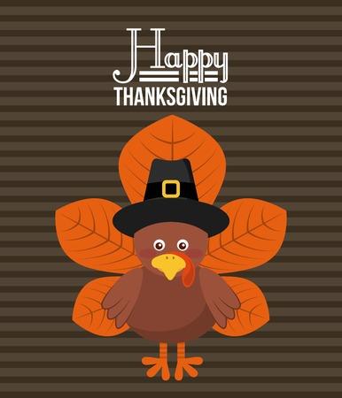 happy thanksgiving design, vector illustration eps10 graphic Illustration