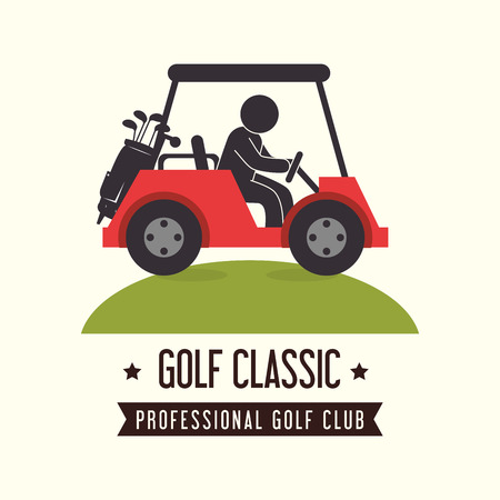cart: Golf sport design theme, vector illustration eps 10. Illustration