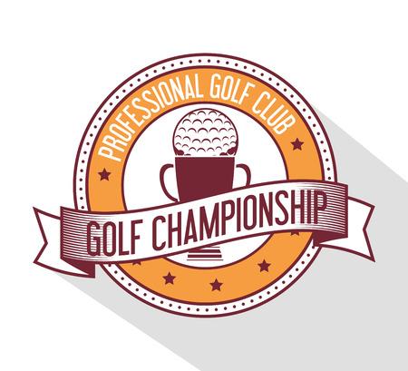 proffesional: Golf sport design theme, vector illustration eps 10. Illustration