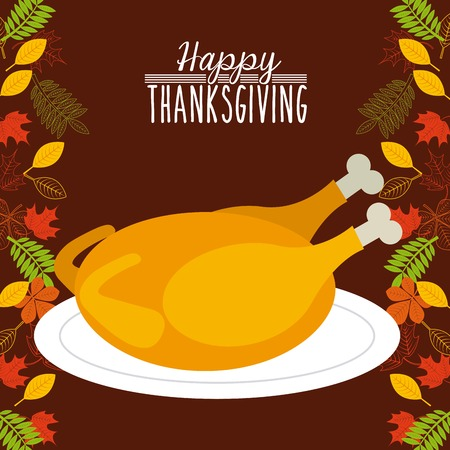 chicken meat: happy thanksgiving design, vector illustration eps10 graphic Illustration