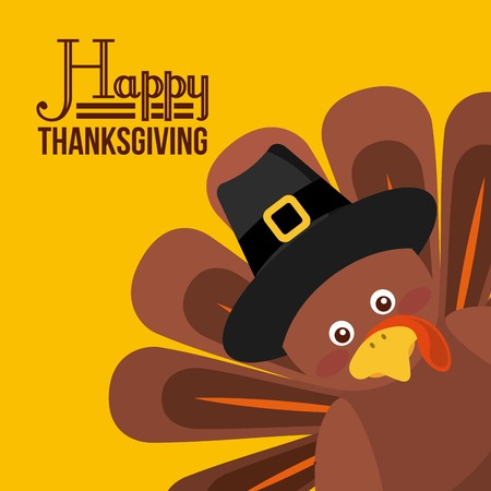 happy thanksgiving design, vector illustration eps10 graphic Illustration