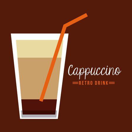 cappucino: retro drinks design, vector illustration eps10 graphic