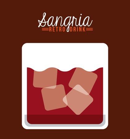 sangria: retro drinks design, vector illustration eps10 graphic