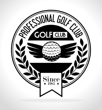 Golfsport ontwerp thema, vector illustratie eps 10.
