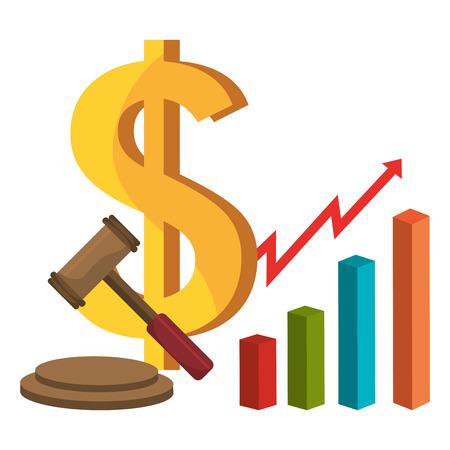 stock market: Global market and stock exchange design, vector illustration Illustration