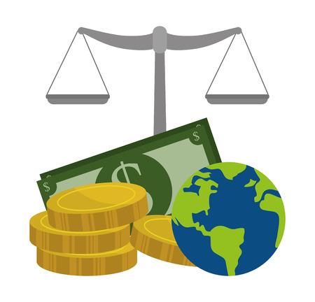 bill board: Global economy and market design, vector illustration. Illustration
