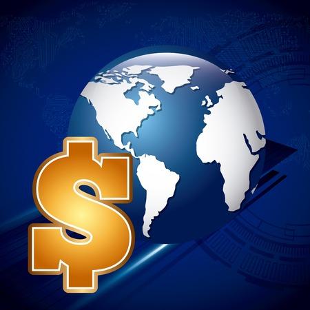 global work company: global economy design, vector illustration eps10 graphic Illustration